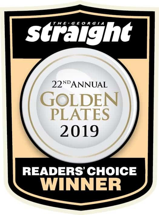2019 Best Caterer In Vancouver, Gold Plate Readers Choice